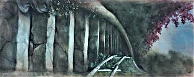 Painting - Roller Coaster In The Woods by Suzn Art Memorial