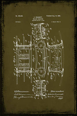 Prescott Mixed Media - Roller Coaster Patent Drawing 1d by Brian Reaves