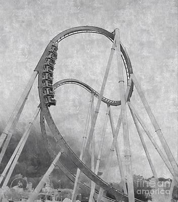 Hulk Roller Coaster Ride Art Print