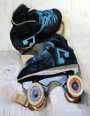 Painting - Roller Derby by Sandy McIntire