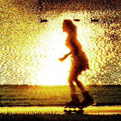 Photograph - Rollerblading In Forest Park by Garry McMichael