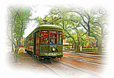 Rainy Day Photograph - Rollin' Thru New Orleans - Vignette by Steve Harrington