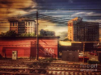 Photograph - Rolling Along The Tracks - From The New Jersey Transit Line by Miriam Danar