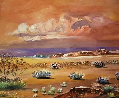 Painting - Rolling Cloud Cluster Approaching  Desert Storm by Al Brown