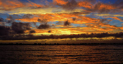 Photograph - Rolling Clouds At Sunset by David Lee Thompson