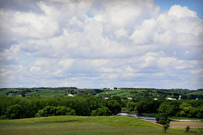 Photograph - Rolling Clouds And Rolling Hills-peterson by Kathy M Krause