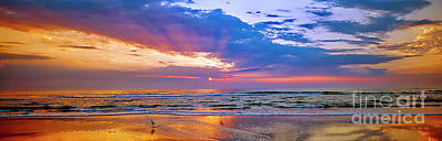 Photograph -  Daytona Beach Rolling Clouds Atlantic Ocean Florida by Tom Jelen