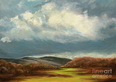 Pittsburgh Painting - Rolling Clouds Over The Appalachian Mountains by Cindy Roesinger