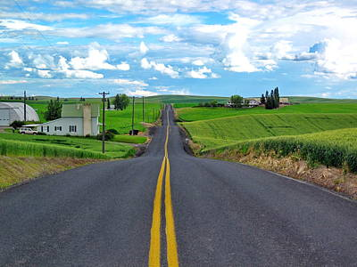 Photograph - Rolling Country Road by Doug Oriard