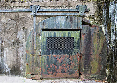 Photograph - Rolling Door To The Bunker by Gary Slawsky