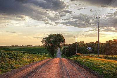 Rolling Down A Country Road Art Print