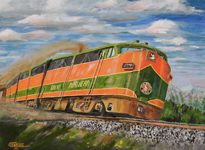 Art Print featuring the painting Rolling East by Christopher Jenkins