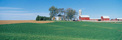 Rolling Farm Fields, Great River Road Art Print by Panoramic Images