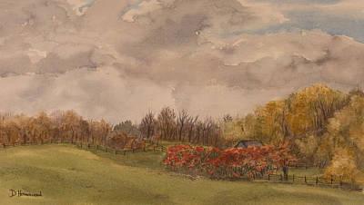 Rolling Fields In The Fall Art Print by Debbie Homewood