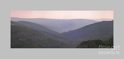 Photograph - Rolling Hill Country Panorama Poster by Felipe Adan Lerma