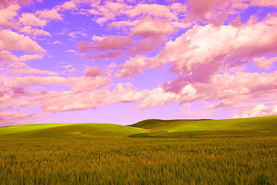 Rolling Hills And Waves Of Grain  Art Print by Jeff Swan