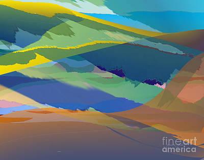 Digital Art - Rolling Hills Landscape by Jacqueline Shuler