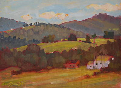 Painting - Rolling Hills Of Cheshire by Len Stomski