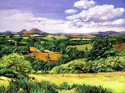 Field. Cloud Painting - Rolling Hills Of Scotland by David Lloyd Glover