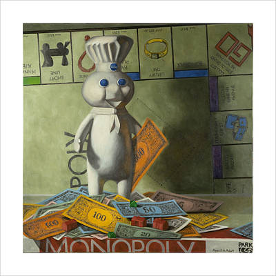 Monopoly Painting - Rolling In Dough by Judy Sherman