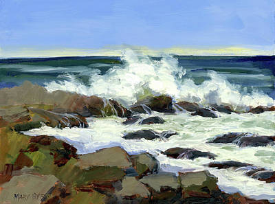 Ogunquit Marginal Way Painting - Rolling In by Mary Byrom