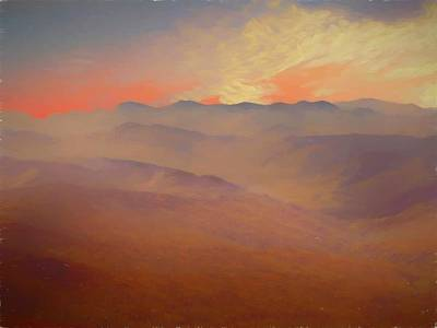 Photograph - Rolling Mountain Range Of New Hampshire by Rusty R Smith