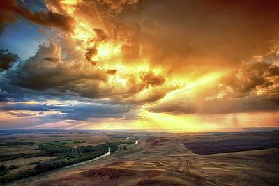 Rolling Rain Of Summer Sunset Art Print