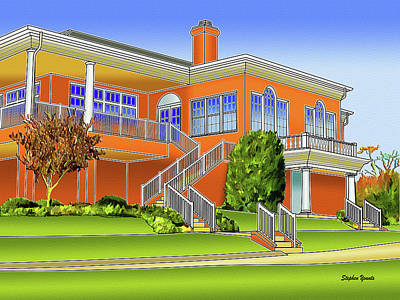 Rolling Road Golf Club Art Print by Stephen Younts