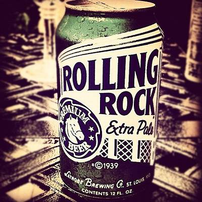 Beer Wall Art - Photograph - Rolling Rock. #american #beer by Marc Plouffe