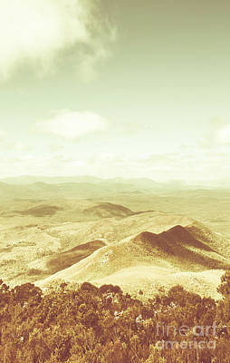 Pastel Sky Photograph - Rolling Rural Hills Of Zeehan by Jorgo Photography - Wall Art Gallery