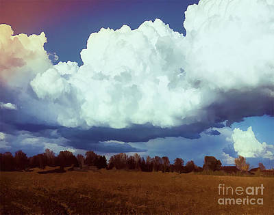 Sun Rays Digital Art - Rolling Spring Clouds by Luther Fine Art