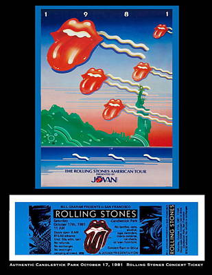 Photograph - Rolling Stones 1981 Ticket And Poster by Paul Van Scott