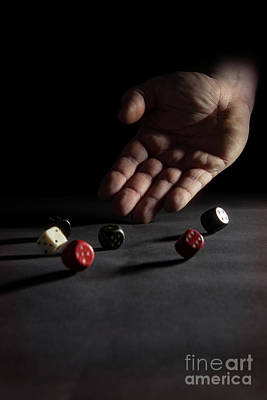 Hand Thrown Photograph - Rolling The Dice by Amanda Elwell