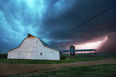 Farmsteads Photograph - Rolling Thunder by Thomas Zimmerman