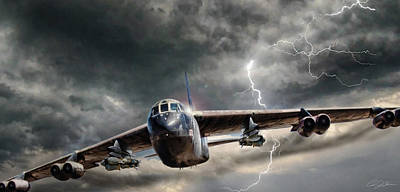 Jets Digital Art - Rolling Thunder V2 by Peter Chilelli