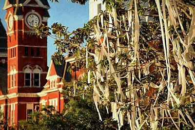 Rolling Toomer's Corner And Samford Hall Print by JC Findley