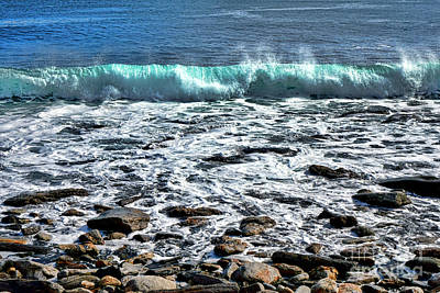 Rolling Wave On The Coast Of Maine Art Print by Olivier Le Queinec