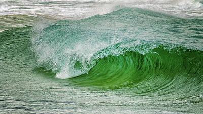 Tsunami Photograph - Rolling Wave by Stelios Kleanthous