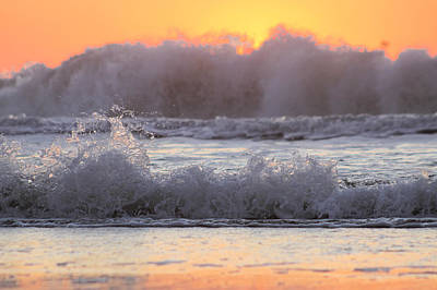 Photograph - Rolling Waves Hide Sunrise by Robert Banach
