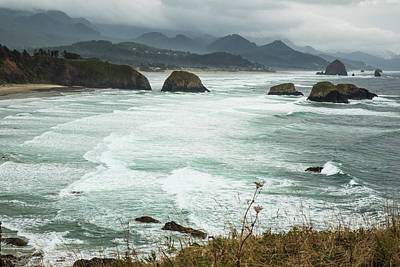 Photograph - Rolling Waves On Cannon Beach by Tom Cochran