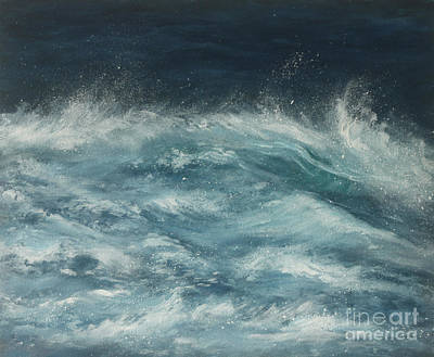 Painting - Rolling Waves by Valerie Travers
