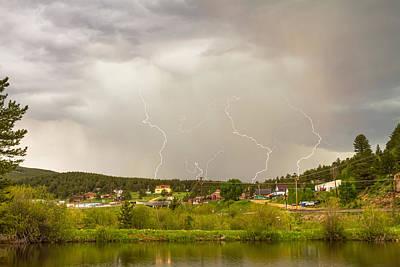 Rollinsville Colorado Lightning Thunderstorm Art Print by James BO  Insogna