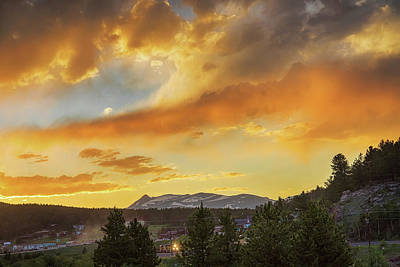 Photograph -  Rollinsville Colorado Trains And Sunset by James BO Insogna