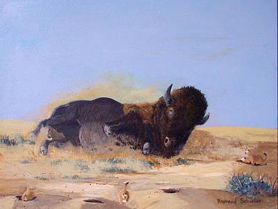 Roll'n On The Prairie Art Print by Raymond Schuster