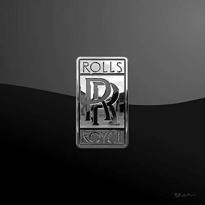 Rolls Royce - 3d Badge On Black Original by Serge Averbukh
