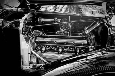 Photograph - Rolls-royce Engine -0237bw by Jill Reger