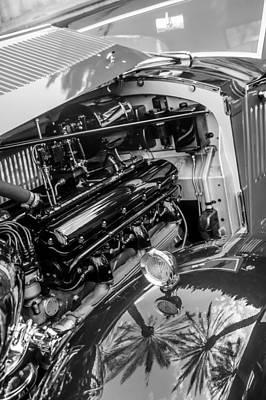Photograph - Rolls-royce Engine -0263bw by Jill Reger