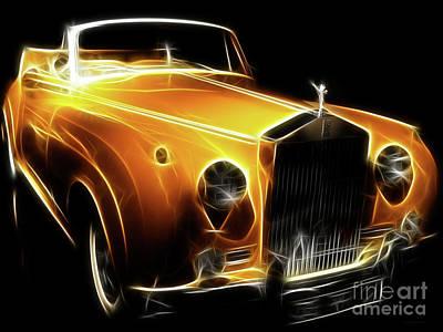 Rolls Royce Digital Art - Rolls Royce Gold by Wingsdomain Art and Photography