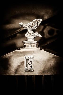 Photograph - Rolls-royce Hood Ornament - Emblem -1068s by Jill Reger
