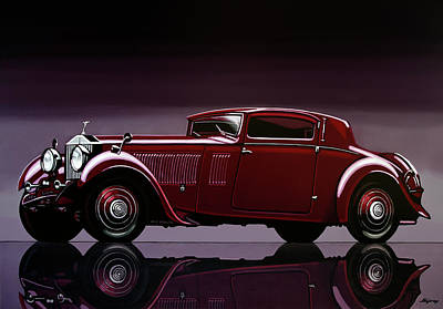 Painting - Rolls Royce Phantom 1933 Painting by Paul Meijering